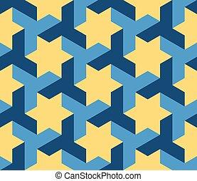 Vector sin costura azul triangulo geométrico con forma de tesellación