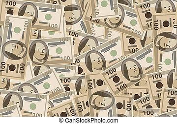 Vector sin costura de billetes