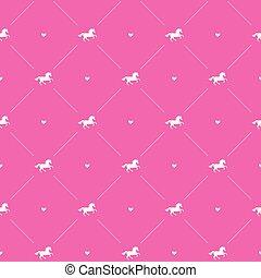 Vector sin costura de caballo unicornio