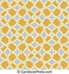Vector sin costura de estrella islámica en patrón geométrico amarillo y azul