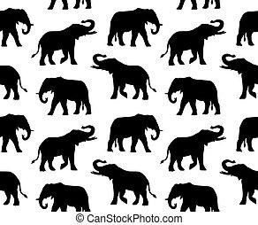 Vector sin costura de silueta de elefante