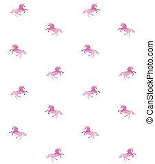 Vector sin costura de unicornio acuarela