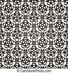 Vector sin fondo floral. Patrón de encaje.