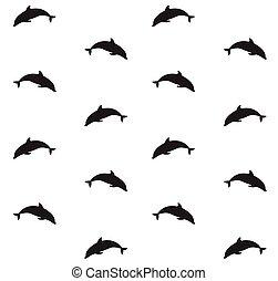 Vector sin marcas de silueta de delfines