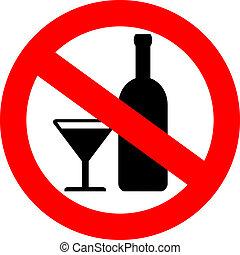 Vector sin señal de alcohol