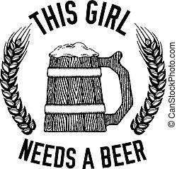 vector, sobre, cerveza inglesa, cervezadorada, cita, imagen, cerveza, mano, cerveza, cerveza negra, dibujado