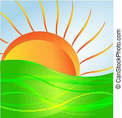 Vector Sun y Green Hill