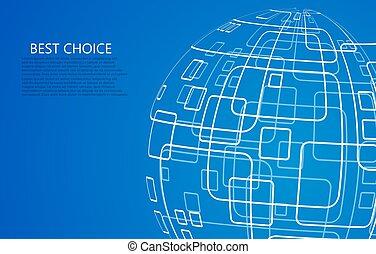 vector, techology, concepto, moderno, fondo.
