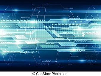 vector, tecnología, resumen, sistema, ilustración, plano de fondo, futuro, velocidad