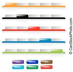 vector, tela, buttons., añadir, etiquetas, text., agua, sitio, corregir, conjunto, fácil, perfecto, size., 2.0, navegación, cualesquiera