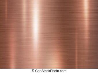 vector, textura, plano de fondo, cobre, metal, ilustración