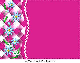 Vector tiene 8 copias rosas del espacio Gingha