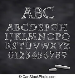 Vector tiza font