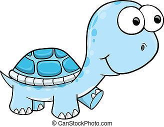Vector tortuoso azul
