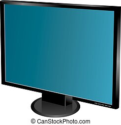 Vector TV pantalla