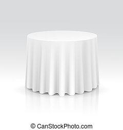 Vector vacío mesa redonda con mantel