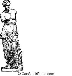 Vector venus de milo boceto