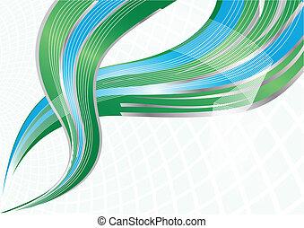 Vector verde y azul