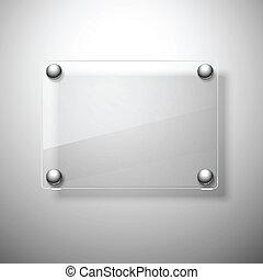 vector, vidrio, framework., plano de fondo, resumen, illustration.