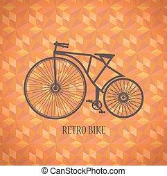 Vector vieja bicicleta
