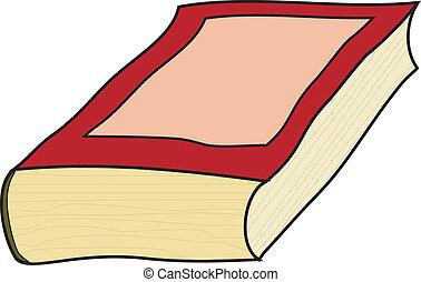 vector, viejo, libro, ilustración