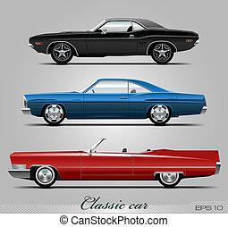 Vectores de autos clásicos