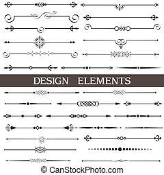 Vectores de diseño calígrafico y decoración de páginas