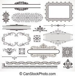 Vectores de elementos de decoración de páginas