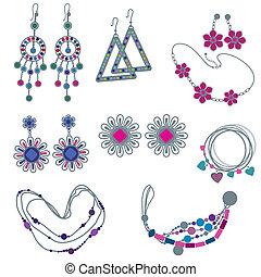 Vectores de joyería de moda