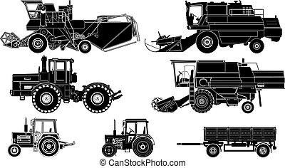 Vectores de vehículos agrícolas
