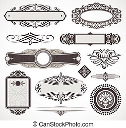 Vectores decorativos diseño de elementos y decoración de páginas