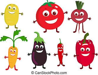 vegetal, carácter, caricatura