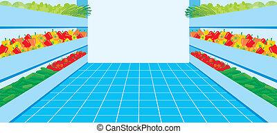 vegetal, supermarket., número