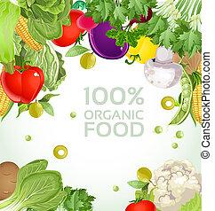 vegetal, vegetariano, bandera