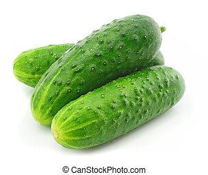 vegetal, verde, fruta, pepino, aislado