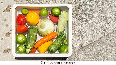 vegetales, agua jabonosa, disinfection., lavado, coronavirus, fruta