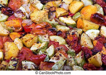 vegetales, asado