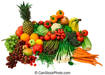 Vegetales frescos y frutas