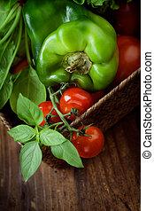 Vegetales orgánicos frescos