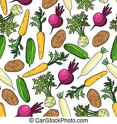 Vegetales sanos y orgánicos sin costura