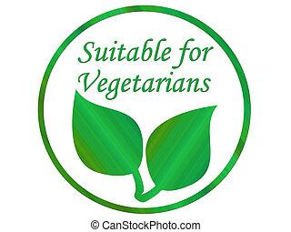 vegetariano, hoja
