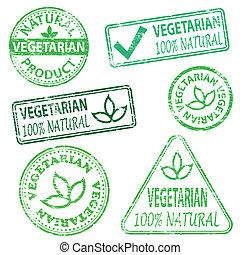 vegetariano, sellos