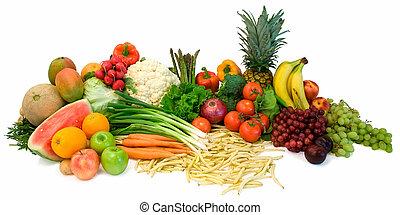 veggies, fruits