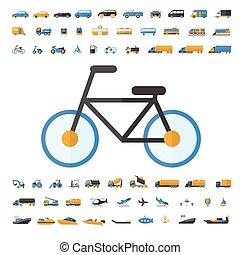 Vehículo y icono de transporte
