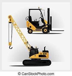 Vehículos de construcción ilustración vectorial