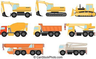 Vehículos de construcción listos