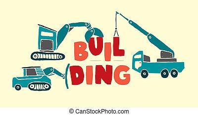 Vehículos de construcción, palabra de construcción