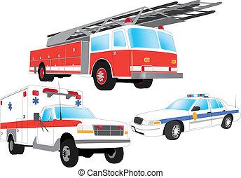 vehículos, emergencia