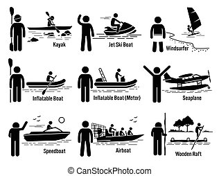 Vehículos recreativos del mar de agua