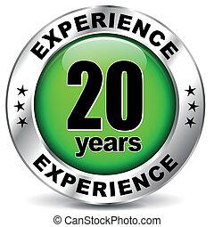 veinte, experiencia, años